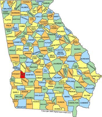 Webster County Georgia Consolidated Government Preston Ga - Georgia voting map